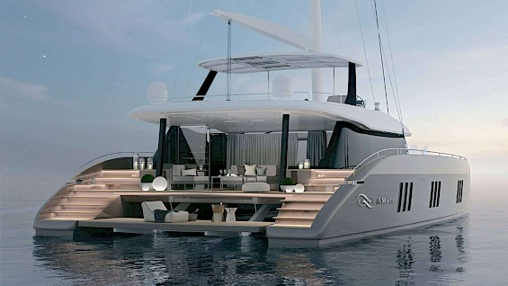 Luxury catamaran yacht AMAYA for rent in Greece with Contact Yachts